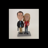 Custom Bobblehead Doll: Hand In Hand Photography Couple
