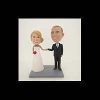 Custom Bobblehead Doll: Hand In Hand Wedding