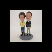 Custom Bobblehead Doll: Hands In Pocket Couple