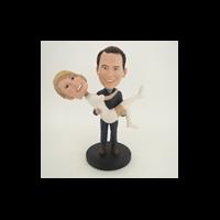 Custom Bobblehead Doll: Man Holding Woman