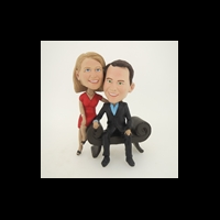 Custom Bobblehead Doll: Man in Sofa Couple