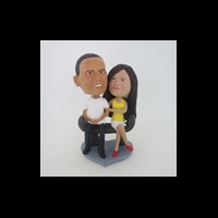 Custom Bobblehead Doll: Park Sitting Couple