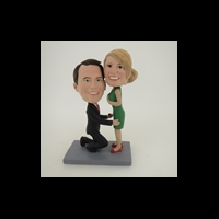 Custom Bobblehead Doll: Propose Couple