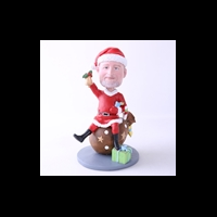 Custom Bobblehead Doll: Cute Santa Man