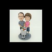 Custom Bobblehead Doll: Shopping Couple