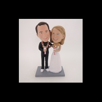 Custom Bobblehead Doll: Singing Fun Couple