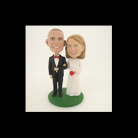 Custom Bobblehead Doll: Take My Arm Bride And Groom