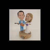 Custom Bobblehead Doll: The Couple Beach Time Fun