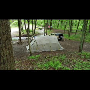 Cabela's Instinct Outfitter tent and wood stove thumbnail
