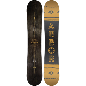 Arbor Element Black Snowboard - Wide