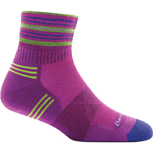 Darn Tough Vertex Stripe 1/4 Ultra-Light Cushion Sock - Women's