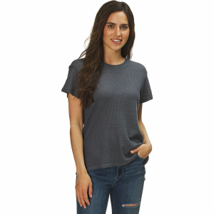 Monrow Tissue Thermal Relaxed Basic Crew Top - Women's