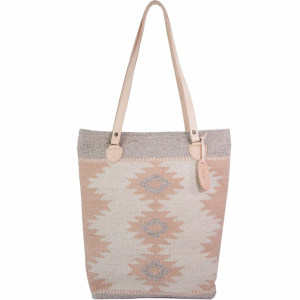 MZ Fair Trade Dusty Peach Wool Bucket Tote - Women's