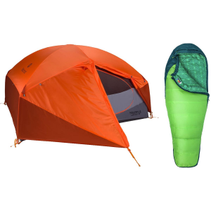Marmot Limelight 3P Tent + Women's Trestles 30 Sleeping Bag Bundle