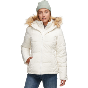 Stoic Sherpa Lined Hooded Puffer Jacket with Bib - Women's