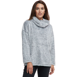 Dylan Vintage Shag Sherpa Soft Cowl Neck Pullover - Women's