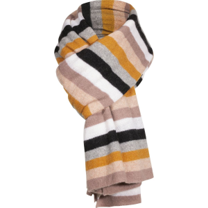 White + Warren Multi Color Stripe Travel Wrap Scarf