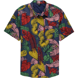Stoic Exploded Palm Print Short-Sleeve Button-Up Shirt - Men's