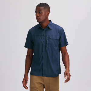 Stoic Solid Performance Woven Button-Down Shirt - Men's