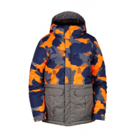 686 Onyx Insulated Jacket - Boys' Orange Geo Camo Clrblk Md