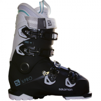 Salomon X Pro X80 CS Ski Boot - Women's Black/white/aruba Blue 26/26.5
