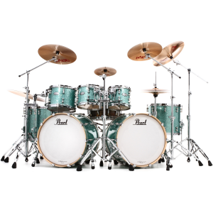 Pearl Music City Custom Reference Pure Double Bass Shell Pack 8-piece - Turquoise Glass